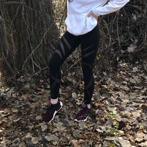 Lululemon mesh striped leggings